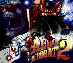 Image de l'ecran titre du jeu Aero the Acro-Bat 2 sur Sega Megadrive