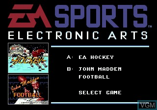 Image de l'ecran titre du jeu EA Sports Double Header sur Sega Megadrive