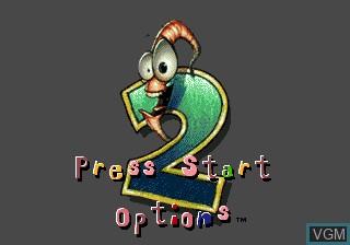 Image de l'ecran titre du jeu Earthworm Jim 2 sur Sega Megadrive