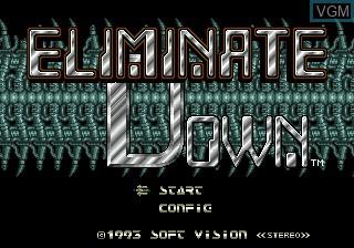 Image de l'ecran titre du jeu Eliminate Down sur Sega Megadrive