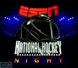 Image de l'ecran titre du jeu ESPN National Hockey Night sur Sega Megadrive