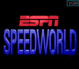Image de l'ecran titre du jeu ESPN SpeedWorld sur Sega Megadrive