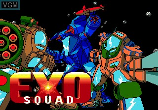 Image de l'ecran titre du jeu Exo-Squad sur Sega Megadrive