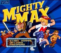 Image de l'ecran titre du jeu Adventures of Mighty Max, The sur Sega Megadrive