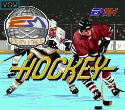 Image de l'ecran titre du jeu EA Hockey sur Sega Megadrive