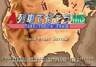 Image de l'ecran titre du jeu A Ressha de Gyoukou MD sur Sega Megadrive