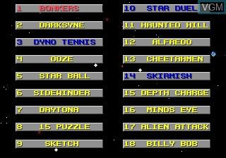 Image du menu du jeu Action 52 sur Sega Megadrive