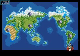 Image du menu du jeu Earth Defend, The sur Sega Megadrive
