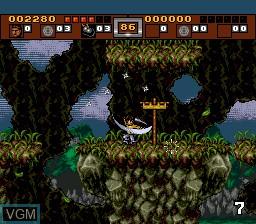 Image du menu du jeu 3 Ninjas Kick Back sur Sega Megadrive