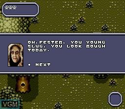 Image du menu du jeu Addams Family Values sur Sega Megadrive