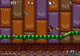 Image du menu du jeu Aero the Acro-Bat sur Sega Megadrive