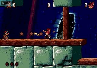 Image du menu du jeu Aero the Acro-Bat 2 sur Sega Megadrive