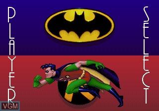 Image du menu du jeu Adventures of Batman and Robin, The sur Sega Megadrive