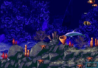 Image du menu du jeu ECCO - The Tides of Time sur Sega Megadrive