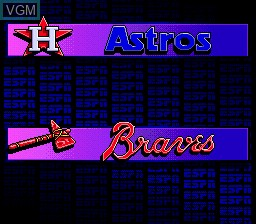 Image du menu du jeu ESPN Baseball Tonight sur Sega Megadrive