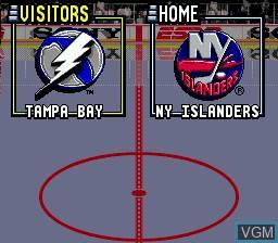 Image du menu du jeu ESPN National Hockey Night sur Sega Megadrive