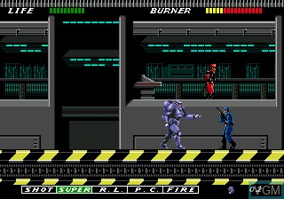 Image du menu du jeu ESWAT Cyber Police - City Under Siege sur Sega Megadrive