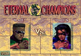 Image du menu du jeu Eternal Champions sur Sega Megadrive