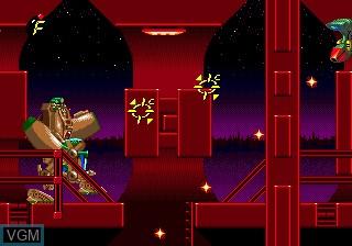 Image du menu du jeu Exo-Squad sur Sega Megadrive