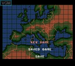Image du menu du jeu Operation Europe - Path to Victory 1939-1945 sur Sega Megadrive
