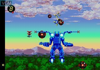 Image in-game du jeu Exo-Squad sur Sega Megadrive