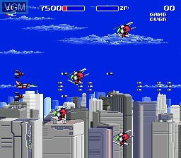 Image in-game du jeu Air Buster sur Sega Megadrive