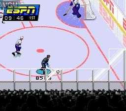 Image in-game du jeu ESPN National Hockey Night sur Sega Megadrive