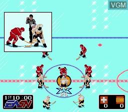 Image in-game du jeu EA Hockey sur Sega Megadrive