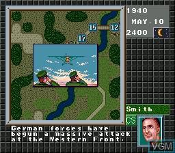 Image in-game du jeu Operation Europe - Path to Victory 1939-1945 sur Sega Megadrive