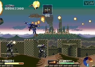 Image in-game du jeu Ranger-X sur Sega Megadrive