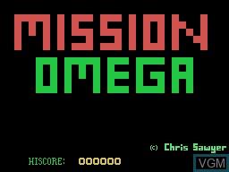 Image de l'ecran titre du jeu Mission Omega sur Memotech MTX 512