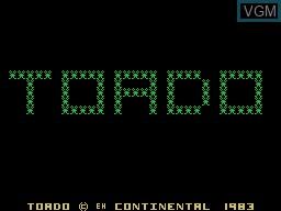 Image de l'ecran titre du jeu Toado sur Memotech MTX 512