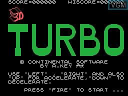 Image de l'ecran titre du jeu Turbo Run sur Memotech MTX 512