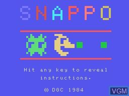Image de l'ecran titre du jeu Snappo sur Memotech MTX 512