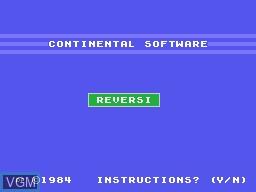 Image de l'ecran titre du jeu Reversi sur Memotech MTX 512