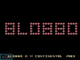 Image de l'ecran titre du jeu Blobbo sur Memotech MTX 512