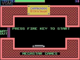 Image de l'ecran titre du jeu Chamberoids sur Memotech MTX 512