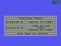 Image de l'ecran titre du jeu Fathoms Deep sur Memotech MTX 512