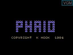 Image de l'ecran titre du jeu Phaid sur Memotech MTX 512