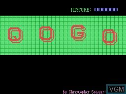 Image de l'ecran titre du jeu Qogo sur Memotech MTX 512