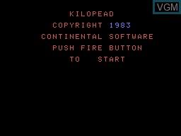 Image de l'ecran titre du jeu Kilopede sur Memotech MTX 512