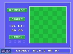 Image du menu du jeu Reversi sur Memotech MTX 512