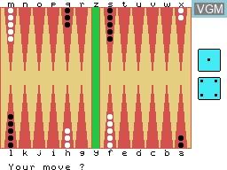 Image in-game du jeu Backgammon sur Memotech MTX 512
