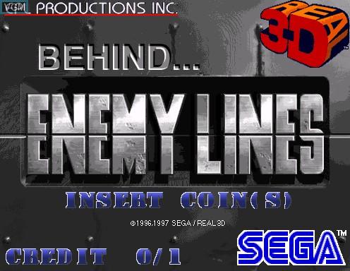 Image de l'ecran titre du jeu Behind Enemy Lines sur Model 2