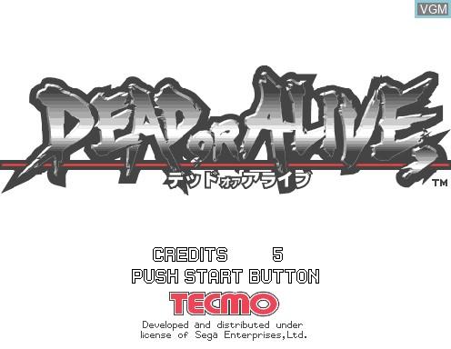 Image de l'ecran titre du jeu Dead or Alive sur Model 2