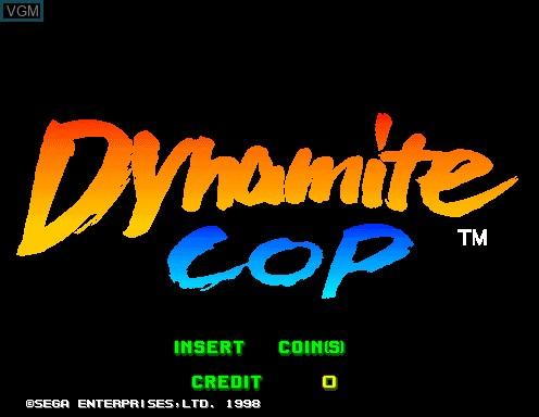 Image de l'ecran titre du jeu Dynamite Cop sur Model 2
