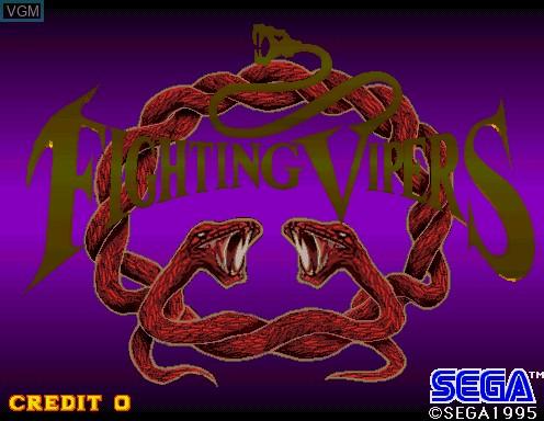 Image de l'ecran titre du jeu Fighting Vipers sur Model 2