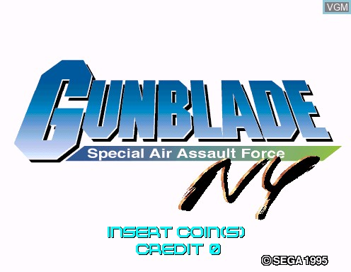 Image de l'ecran titre du jeu Gunblade NY - Special Air Assault Force sur Model 2
