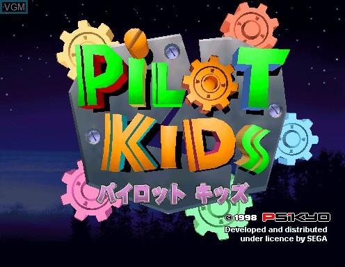 Image de l'ecran titre du jeu Pilot Kids sur Model 2