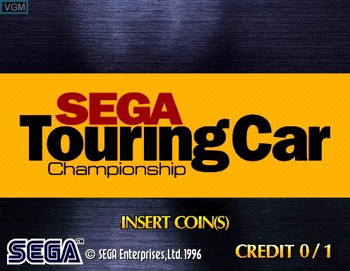 Image de l'ecran titre du jeu Sega Touring Car Championship sur Model 2